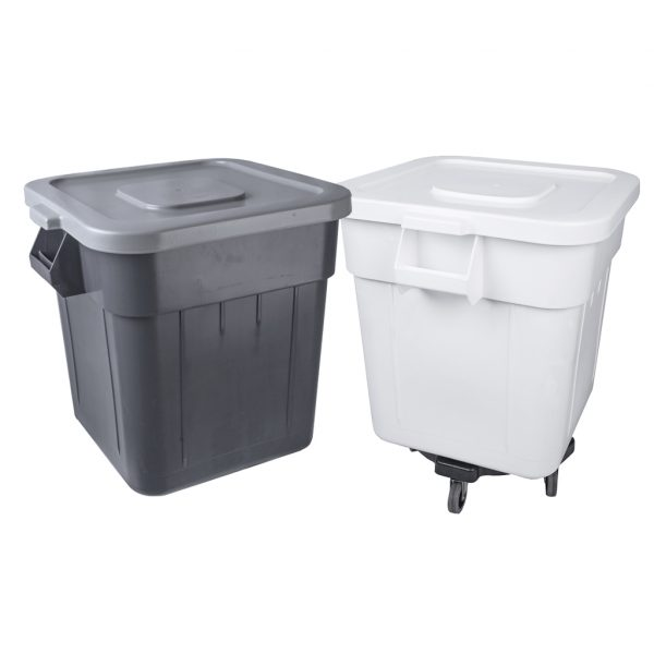 large durable plastic containers for waste, sorting, storage or transporting goods