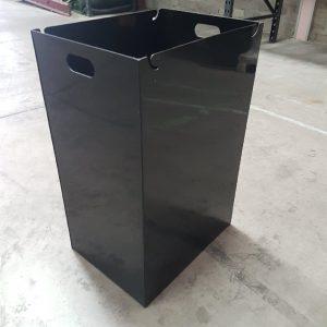 black plastic internal waste bin container