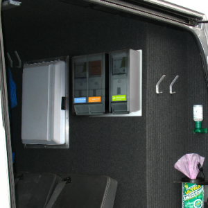 3 step hand care and hygiene cradle system for vans and vehicles