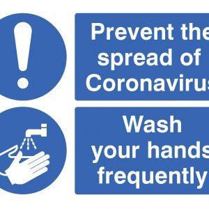 prevent the spread of coronavirus / wash hands sign