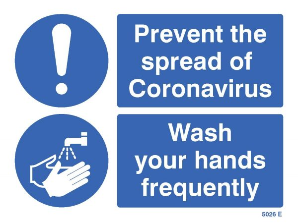 prevent the spread of coronavirus / wash hands sign