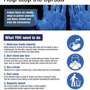 coronavirus help stop the spread poster