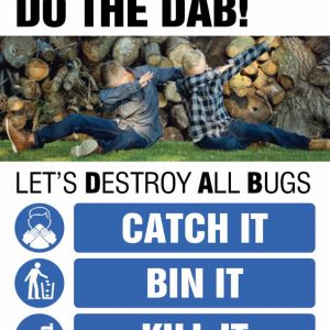 have no tissues? do the dab! stop the spread of coronavirus poster
