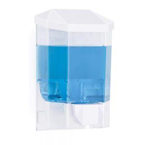 refillable manual push pump dispenser for soap and sanitiser gel