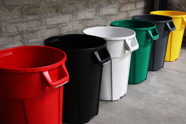 mega bins red black white green grey yellow