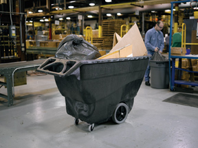 large warehouse trolley for cardboard collection