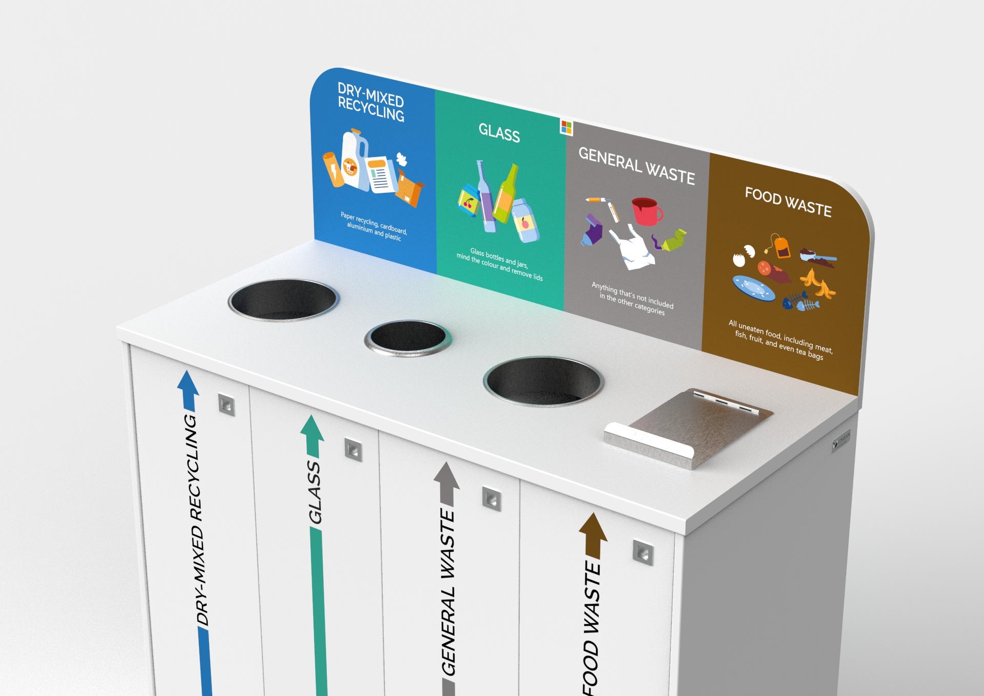 bespoke recycling station unisan