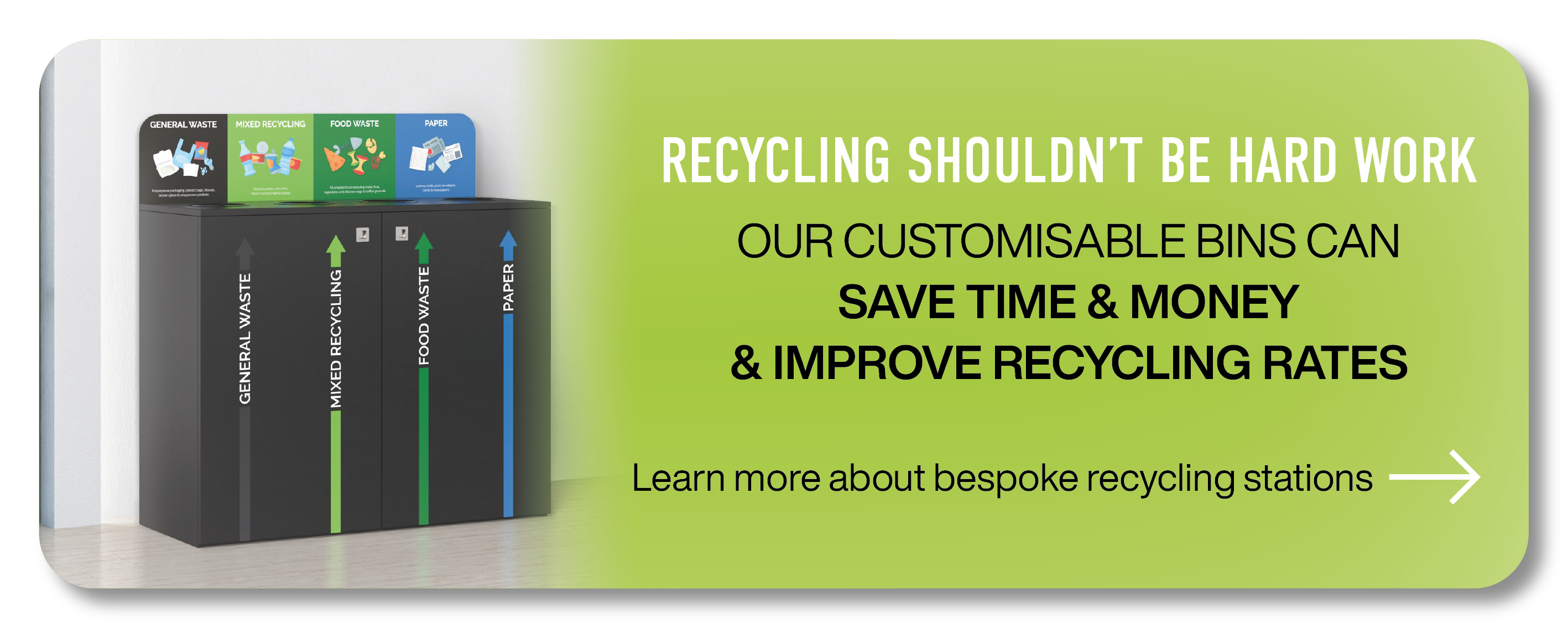 learn more about office recycling bins and how to improve office recycling rates