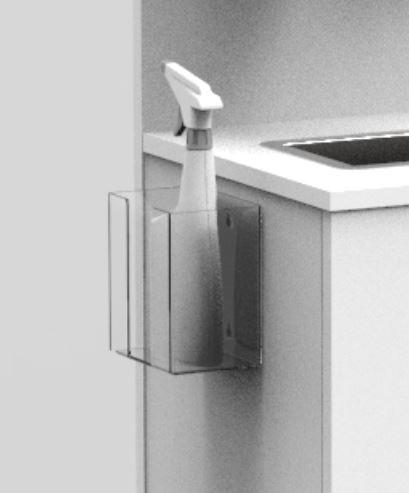 plastic wall mountable sanitiser spray Bottle Holder
