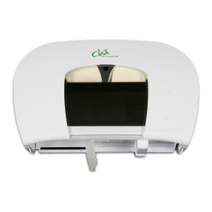 Slim, stylish and hygienic toilet paper roll dispenser to fit 2 clea toilet paper rolls