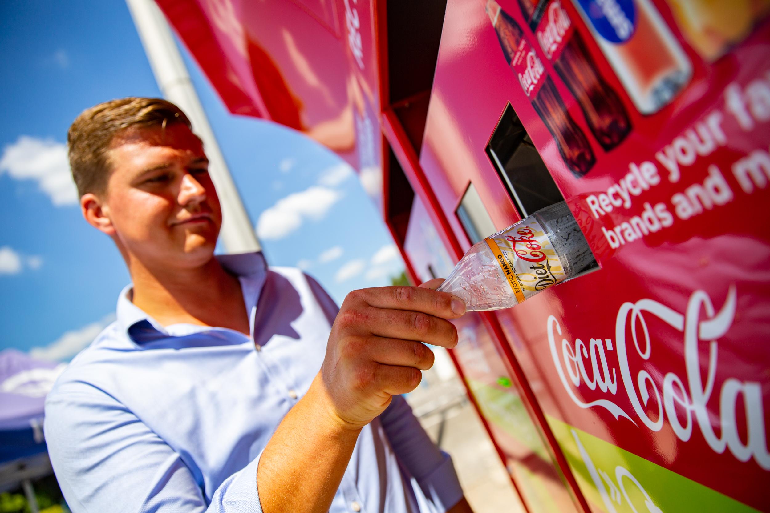 Coca-Cola cafecrush reverse vending recycling machine