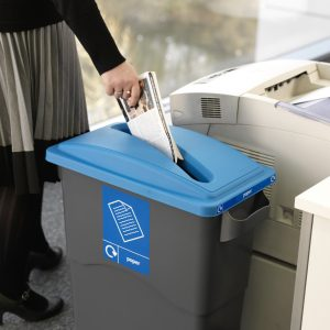 confidential paper waste bin with lock