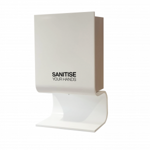 touch free automatic hand sanitiser dispenser for mounting on the wall, luxury version
