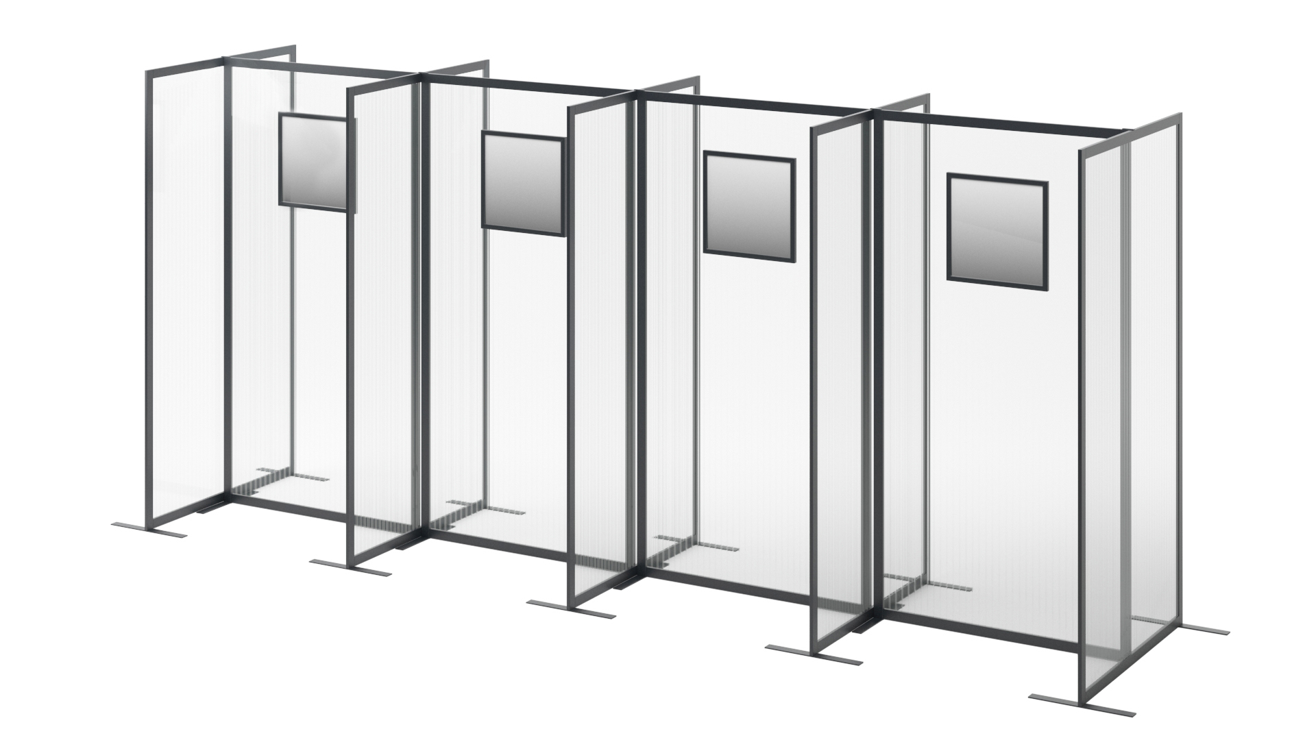 covid testing booths temporary walling