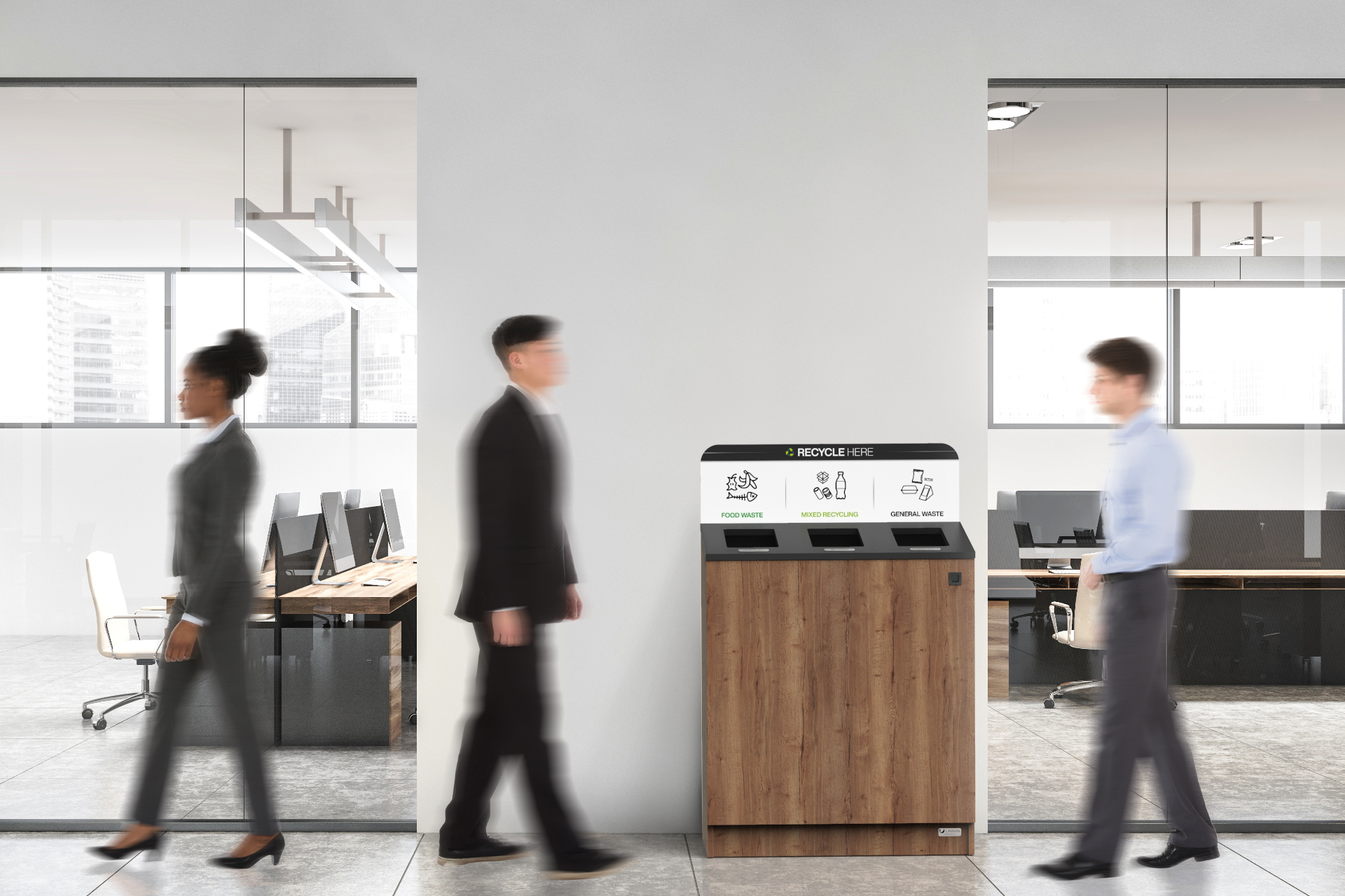 office recycling bins and office waste bins