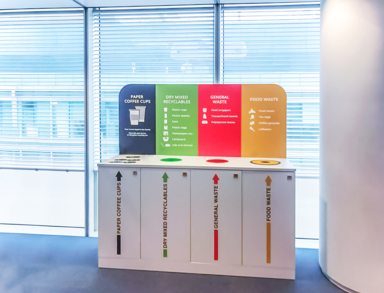 HSBC Canary Wharf, London installs a unisan recycling station for their corporate office