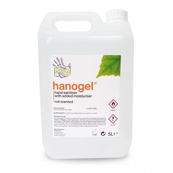 Hanzl hand sanitiser gel 5 litres