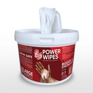 Hanzl heavy duty Power Wipes for hands, surfaces, tools and equipment