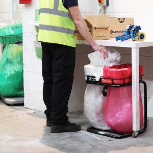 slim jim longopac bin for waste and recycling under worktops