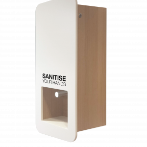 Impress stylish wooden Hand Sanitiser hygiene Station for wall mounting