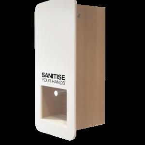 Impress stylish wooden Hand Sanitiser hygiene Station for wall mounting