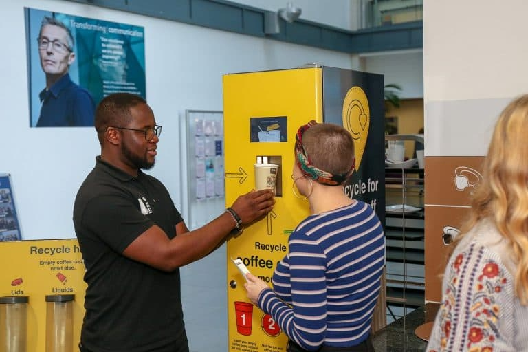 recycle for rewards - reverse vending machine for recycling plastic bottles
