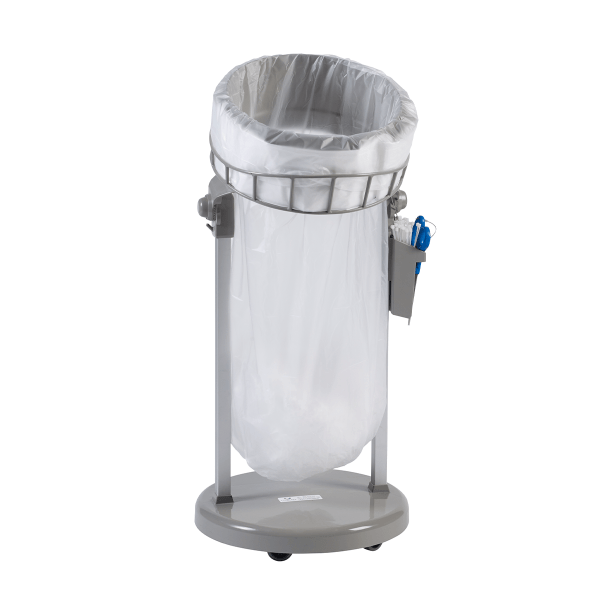 Longopac floor standing waste and recycling bin on wheels