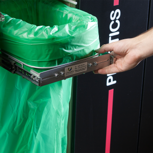 Longopac Flex Mini Slim waste and recycling bin for fitting inside recycling station cabinets