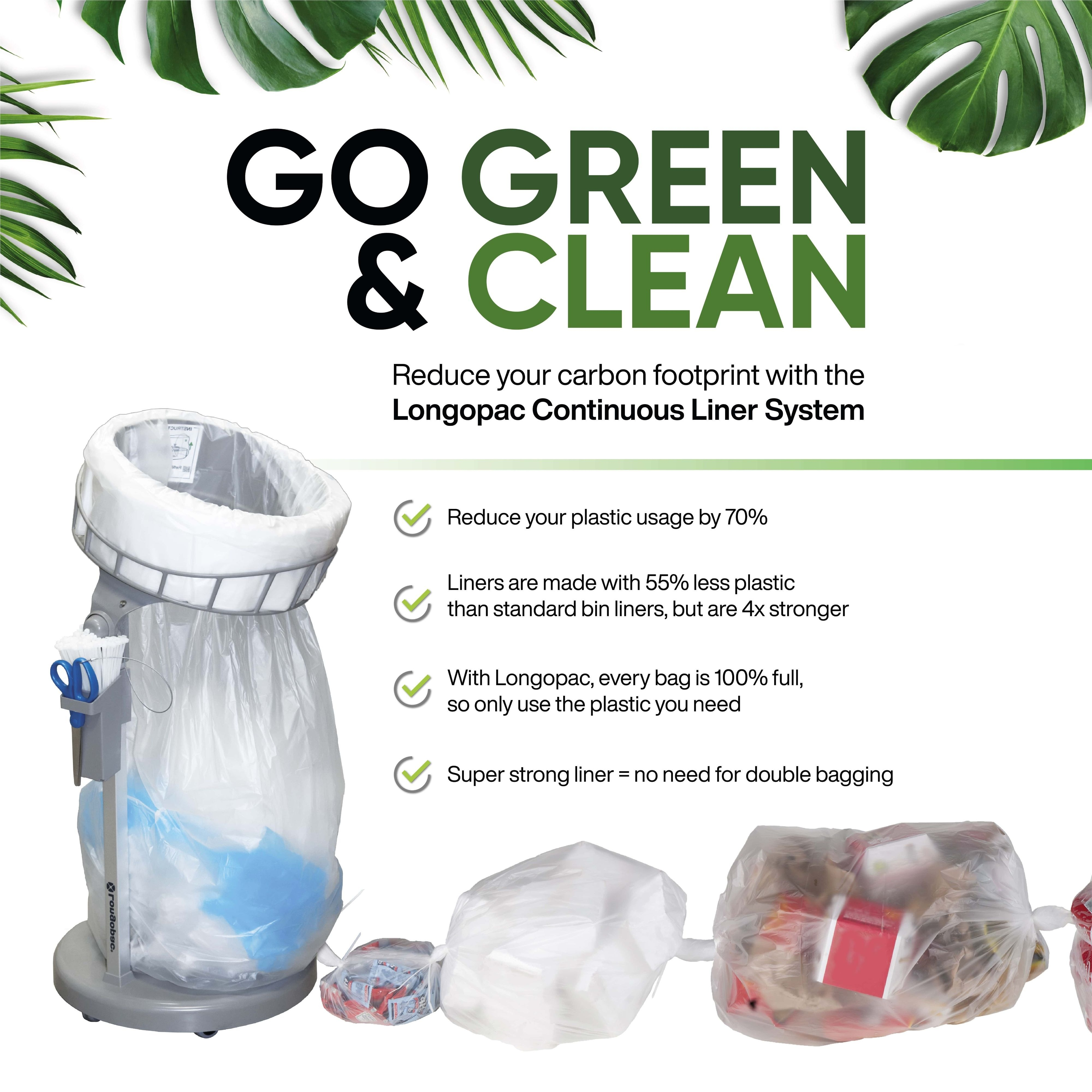 Longopac (Go Green Clean) reduce your plastic usage by 70%