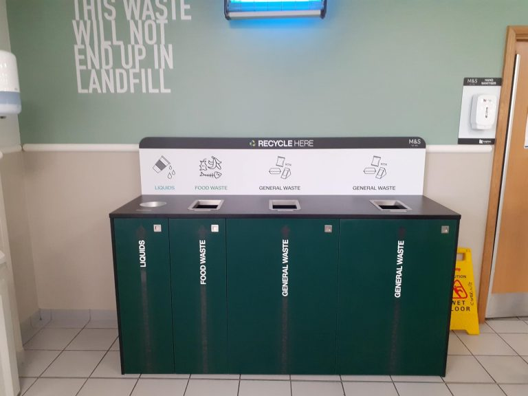 recycling stations in canteens Castle Donnington Distribution centre