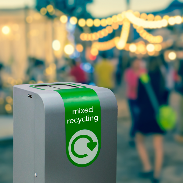 durable outdoor recycling bin