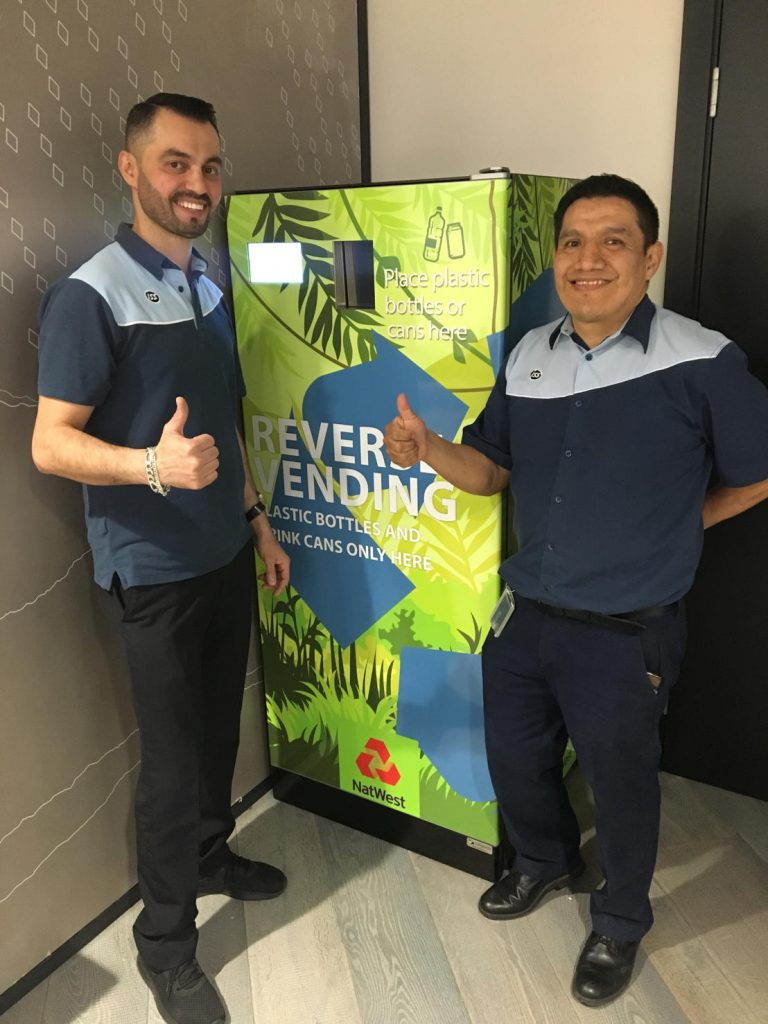 how do cafecrush reverse vending machines help the environment
