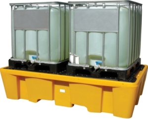 poly ibc bunded spill pallet chemical storage