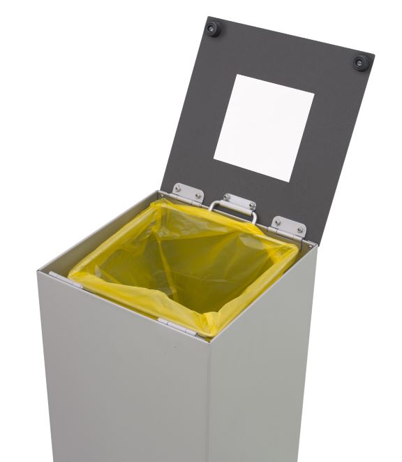 Business Recycling Bin with Lid