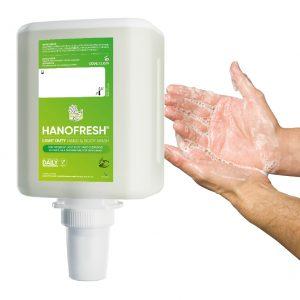 1000ml hanzl hanofresh light duty hand and body wash refill to fit duroline wall mounted washroom dispenser