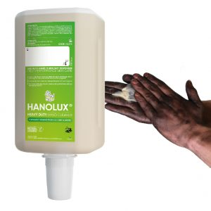 hanzl hanolux 2000ml industrial heavy duty hand cleaner with biodegradable scrubbing agents