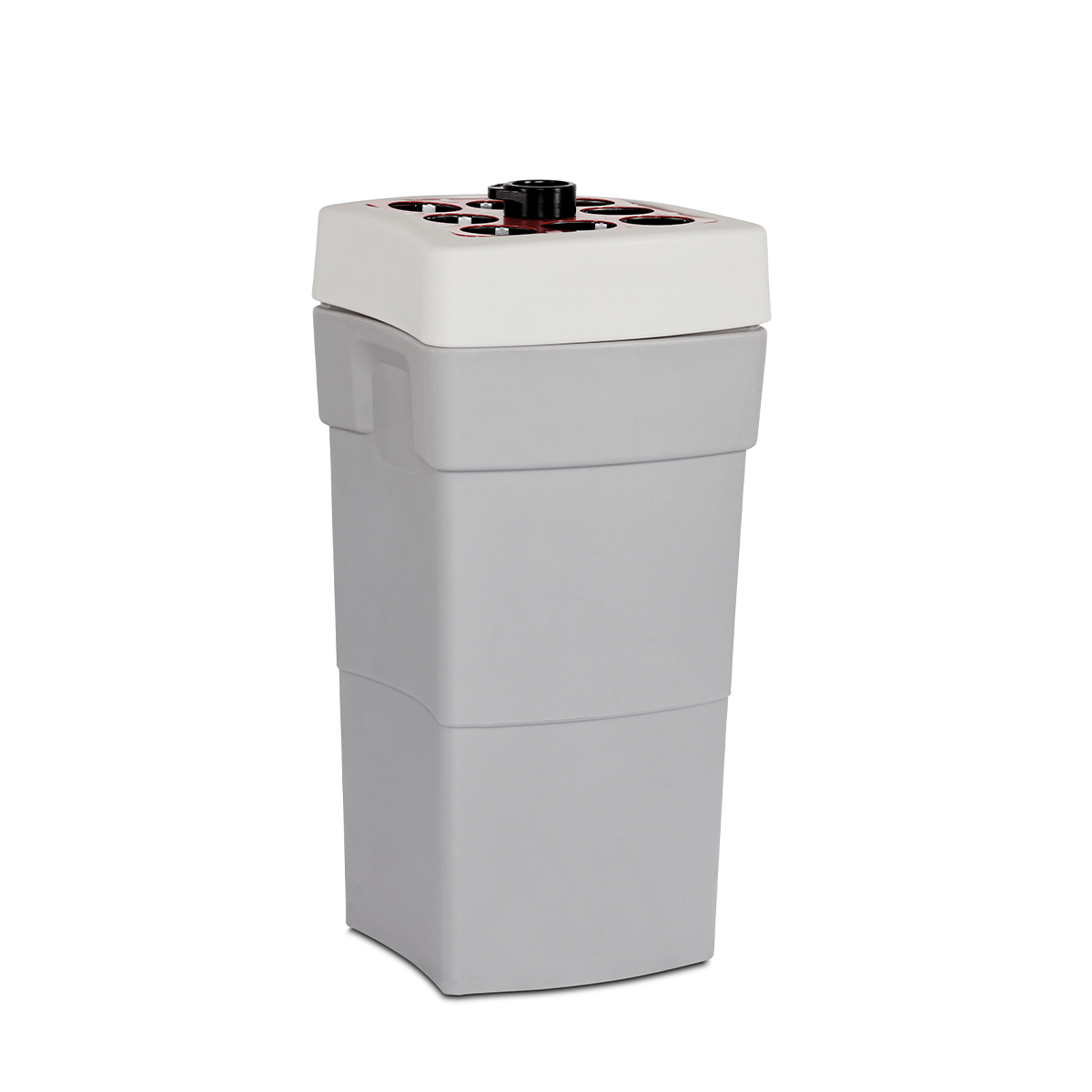 coffee cup recycling bin with liquid section