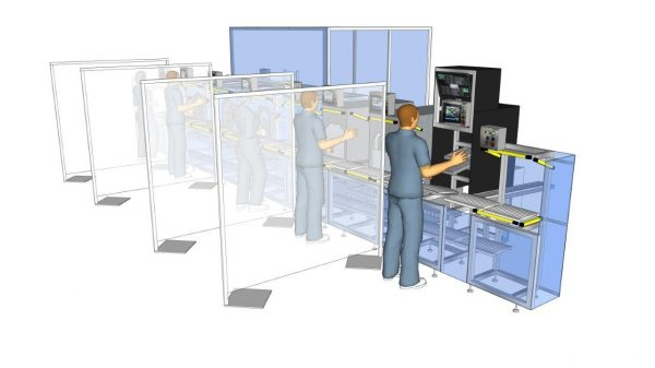 Rapid Screen Divider for factory social distancing measures
