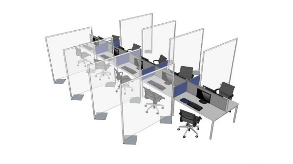 Rapid Screen Divider for office social distancing