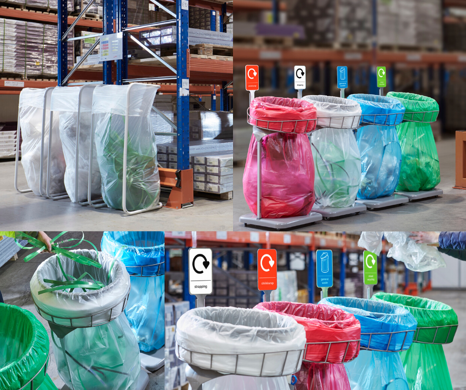 recycling and waste bins for warehouses and production areas