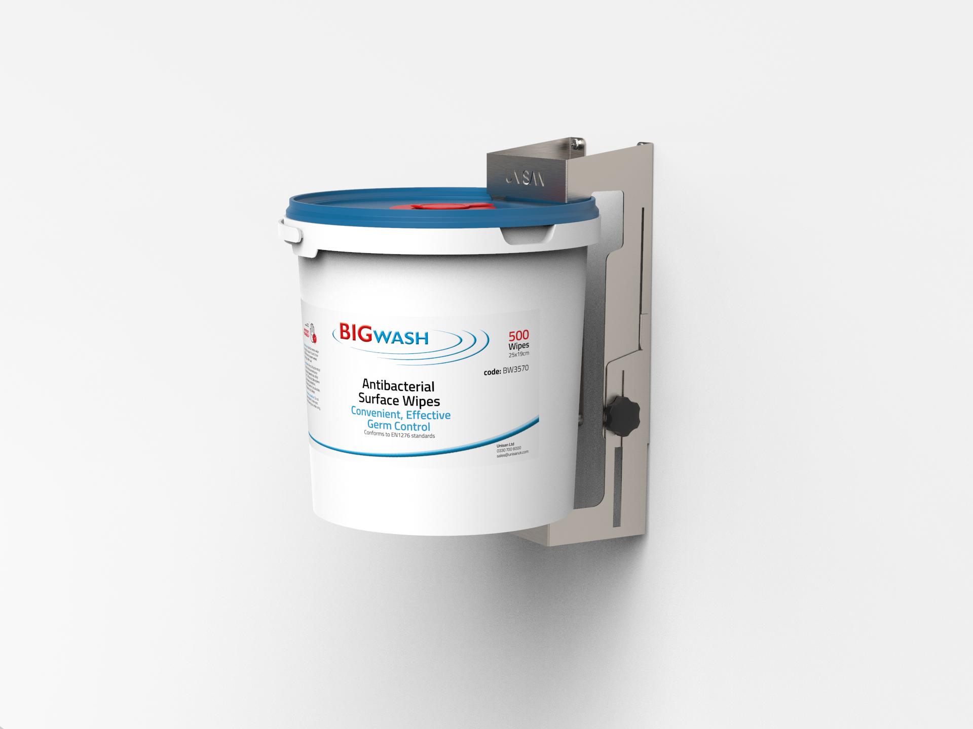 Metal Bracket for holding wipes - Big Wash antibacterial wipes bracket wall holder