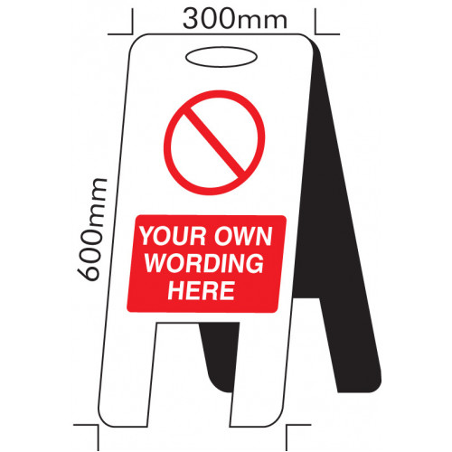 Self Standing Floor Sign Safety Sign with your own wording