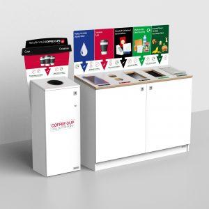 Coffee Cup Recycling Bins