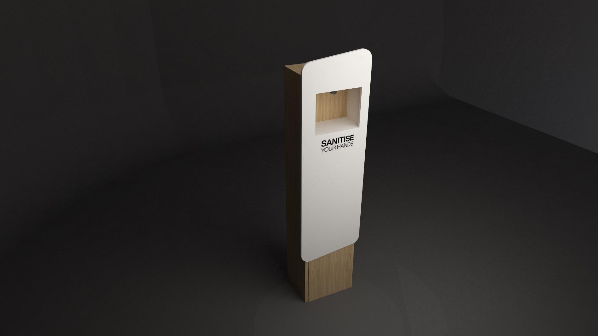Hanzl Urbane luxury hand sanitiser station for hand hygiene in public situations