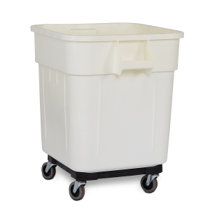 large square waste bin container on wheels 140 litres