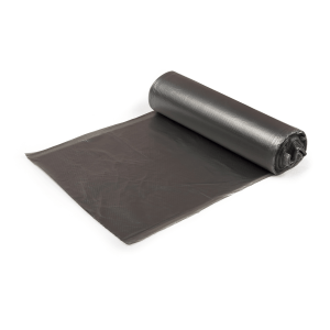 WB8810 black bin liners made from recycled material