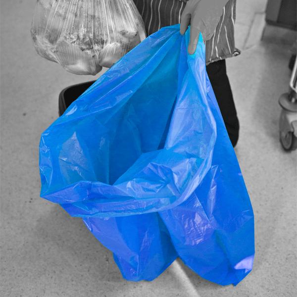 heavy duty Blue rubbish sacks for lining bins