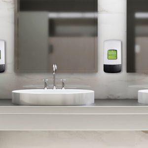 Washroom with Duroline skin protection and hygiene dispenser 2 litres