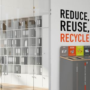 Custom Wall Graphics for Impactful Recycling Messages