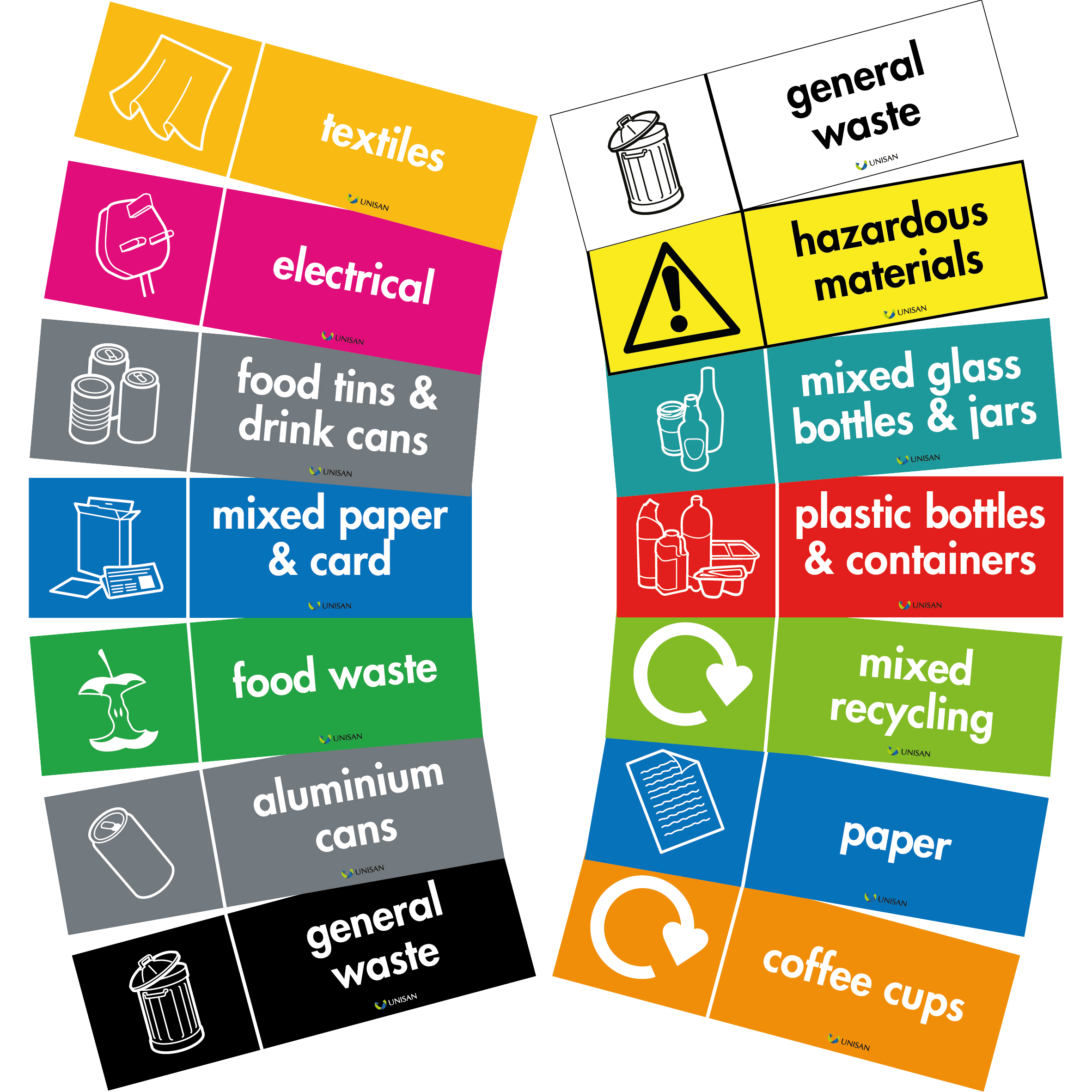 recycling bin labels for office waste bins wrap recommended